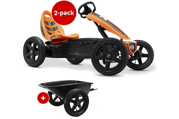 BERG Rally orange   junior aanhanger.